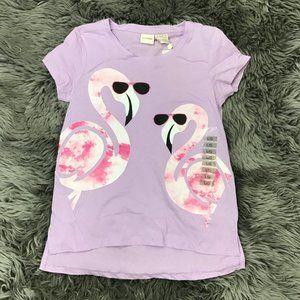 Manguun | Girl's T-shirt | purple | flamingos |